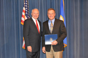 Dr. Reinders received Star of the North award from Congressman John Kline