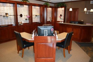 Eyeglasses and front desk-3