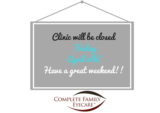 Clinic Closed this Friday April 6th!