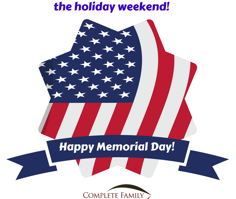 Clinic closed tomorrow! Happy Memorial Day!